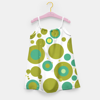 "Miniaturka ""Retro Dots Colorful Olive and Teal 02"" Vestido para niñas, Live Heroes"