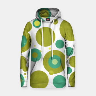 "Thumbnail image of ""Retro Dots Colorful Olive and Teal 02"" Sudadera con capucha de algodón, Live Heroes"