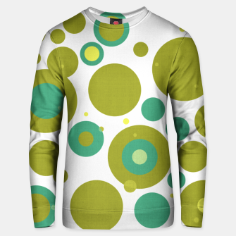 "Miniaturka ""Retro Dots Colorful Olive and Teal 02"" Sudadera de algodón, Live Heroes"