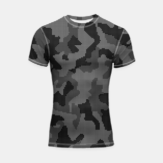 Thumbnail image of Camouflage of Black and White Shortsleeve rashguard, Live Heroes