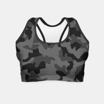 Thumbnail image of Camouflage of Black and White Crop Top, Live Heroes