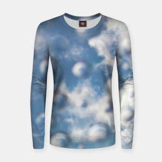 Skybubbles #nature #abstract #art #liveheroes |  Woman cotton sweater obraz miniatury