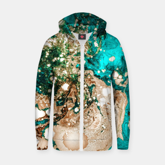 Thumbnail image of Resin Obsession Cotton zip up hoodie, Live Heroes