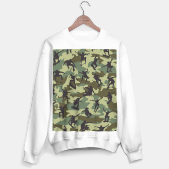 Thumbnail image of Skater Camo WOODLAND Sweater regular, Live Heroes
