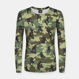 Thumbnail image of Skater Camo WOODLAND Woman cotton sweater, Live Heroes