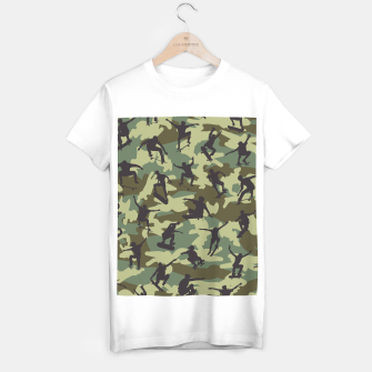 Thumbnail image of Skater Camo WOODLAND T-shirt regular, Live Heroes