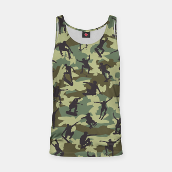 Thumbnail image of Skater Camo WOODLAND Tank Top, Live Heroes