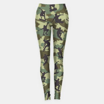 Thumbnail image of Skater Camo WOODLAND Leggings, Live Heroes