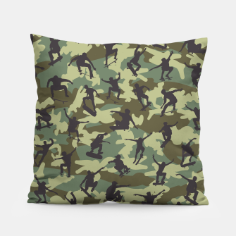 Thumbnail image of Skater Camo WOODLAND Pillow, Live Heroes