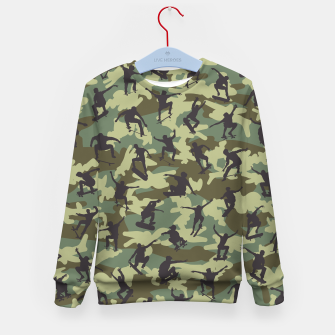 Thumbnail image of Skater Camo WOODLAND Kid's sweater, Live Heroes