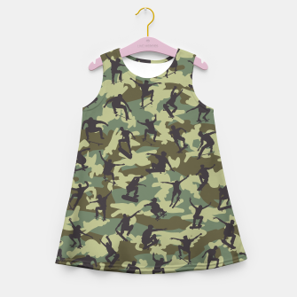 Thumbnail image of Skater Camo WOODLAND Girl's summer dress, Live Heroes
