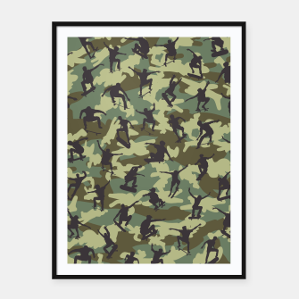 Thumbnail image of Skater Camo WOODLAND Framed poster, Live Heroes