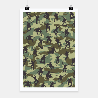 Thumbnail image of Skater Camo WOODLAND Poster, Live Heroes
