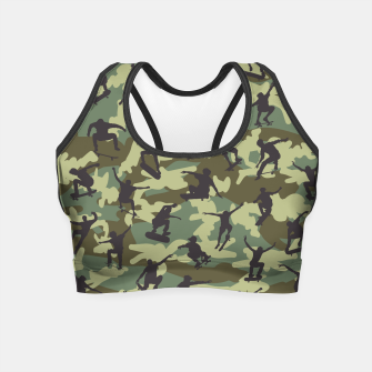Thumbnail image of Skater Camo WOODLAND Crop Top, Live Heroes