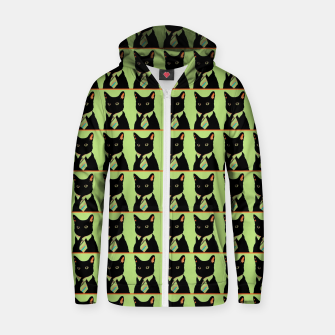 Thumbnail image of The Online Cat Cotton zip up hoodie, Live Heroes