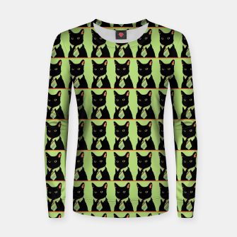 Thumbnail image of The Online Cat Woman cotton sweater, Live Heroes