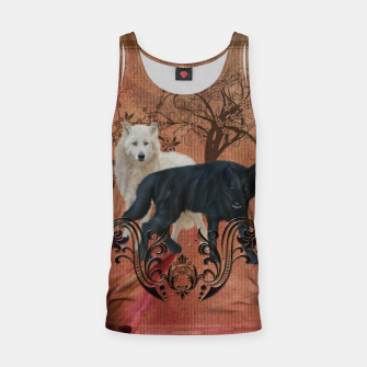 Thumbnail image of Awesome black and white wolf Tank Top, Live Heroes
