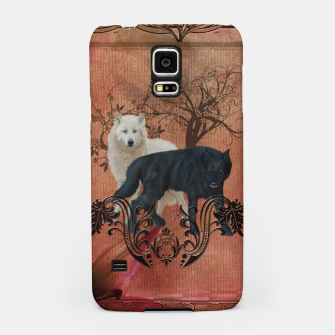 Thumbnail image of Awesome black and white wolf Samsung Case, Live Heroes