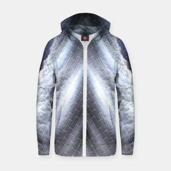 Thumbnail image of Wing Storm Cotton zip up hoodie, Live Heroes