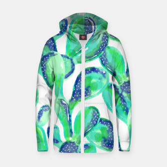 Thumbnail image of Cactus Life Cotton zip up hoodie, Live Heroes