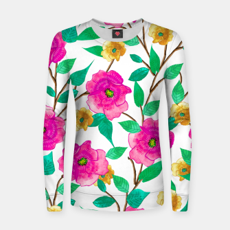 Thumbnail image of Floral Forever Woman cotton sweater, Live Heroes
