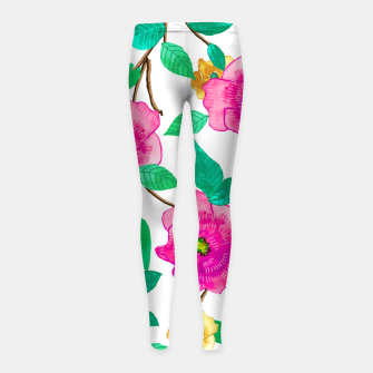 Thumbnail image of Floral Forever Girl's leggings, Live Heroes