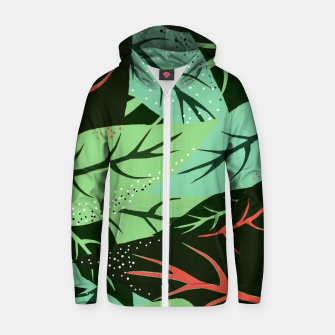 Thumbnail image of Jungle V2 Cotton zip up hoodie, Live Heroes