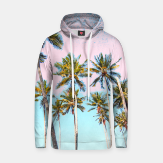 Thumbnail image of Coconut Palms Cotton hoodie, Live Heroes