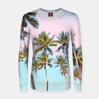 Thumbnail image of Coconut Palms Woman cotton sweater, Live Heroes