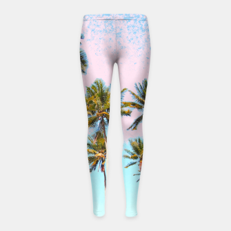 Thumbnail image of Coconut Palms Girl's leggings, Live Heroes