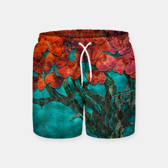 Thumbnail image of Abstract  Flower Tree Digital art Swim Shorts, Live Heroes
