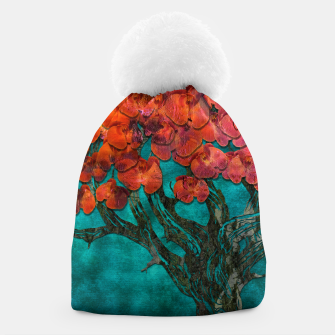 Thumbnail image of Abstract  Flower Tree Digital art Beanie, Live Heroes