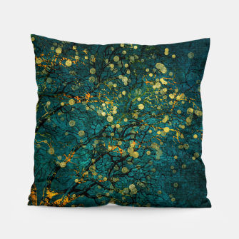 Thumbnail image of Abstract Night Tree Digital Art Pillow, Live Heroes