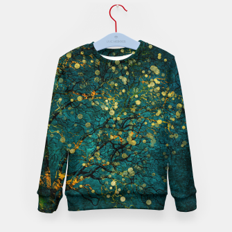 Thumbnail image of Abstract Night Tree Digital Art Kid's sweater, Live Heroes