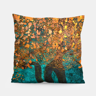 Thumbnail image of Abstract  Flower Tree Digital art Pillow, Live Heroes