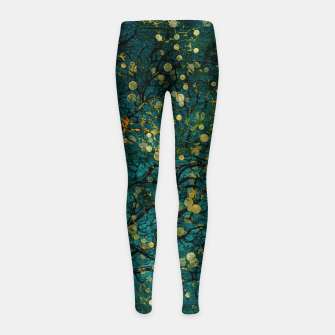 Thumbnail image of Abstract Night Tree Digital Art Girl's leggings, Live Heroes