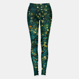Thumbnail image of Abstract Night Tree Digital Art Leggings, Live Heroes