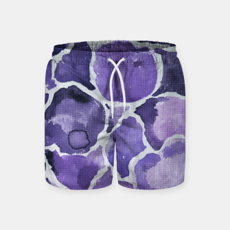 Thumbnail image of Purple Watercolor Abstract Swim Shorts, Live Heroes