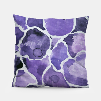 Thumbnail image of Purple Watercolor Abstract Pillow, Live Heroes
