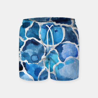 Thumbnail image of Blue Abstract Swim Shorts, Live Heroes