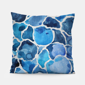 Thumbnail image of Blue Abstract Pillow, Live Heroes