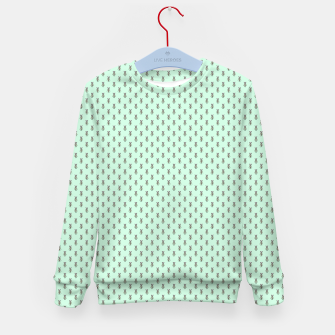 Miniatur Badger Forest Friends All Over Repeat Pattern on Mint Green Kid's sweater, Live Heroes