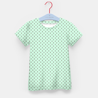 Miniatur Badger Forest Friends All Over Repeat Pattern on Mint Green Kid's t-shirt, Live Heroes