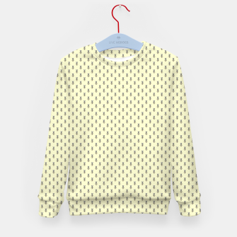 Miniatur Badger Forest Friends All Over Repeat Pattern on Lemon Yellow Kid's sweater, Live Heroes