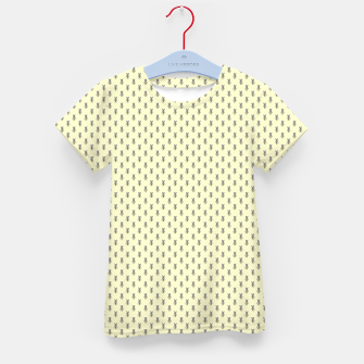 Miniatur Badger Forest Friends All Over Repeat Pattern on Lemon Yellow Kid's t-shirt, Live Heroes