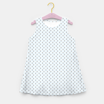 Imagen en miniatura de Mouse Forest Friends All Over Repeat Pattern in Baby Blue Girl's summer dress, Live Heroes