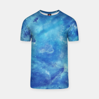 Thumbnail image of Blue galaxy clouds T-shirt, Live Heroes