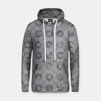 Thumbnail image of Silver Double Happiness Symbol pattern Cotton hoodie, Live Heroes