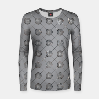 Thumbnail image of Silver Double Happiness Symbol pattern Woman cotton sweater, Live Heroes