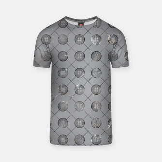 Thumbnail image of Silver Double Happiness Symbol pattern T-shirt, Live Heroes
